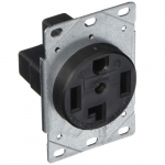 30 Amp Power Receptacle, NEMA 14-30R, Black