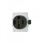 50 Amp Range Receptacle, 3-Pole, 4-Wire, #12 - 4 AWG, 250V, Black