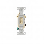 15 Amp Framed Toggle Switch, Non-Grounding, 3-Way, #14-10 AWG, 120V, Ivory