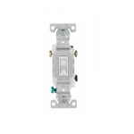 15 Amp Framed Toggle Switch, Non-Grounding, 3-Way, #14-10 AWG, 120V, White