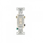 15 Amp Framed Toggle Switch, Auto-Ground, 3-Way, #14-10 AWG, 120V, Light Almond