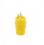 20 Amp Watertight Plug, Yellow