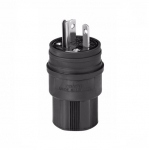 20 Amp Watertight Plug, Black