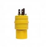 15 Amp Watertight Plug, Yellow