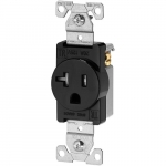 20 Amp NEMA 5-20R 125V Straight Blade Single Receptacle, Black