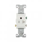 20 Amp NEMA 5-20R 125V Straight Blade Single Receptacle, White
