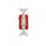 20 Amp Toggle Switch, Single-Pole, #14 to 10 AWG, 120-277V, Ivory
