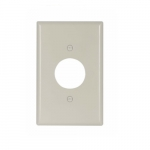 Mid-Size Single Receptacle Thermoset Wallplate, Light Almond