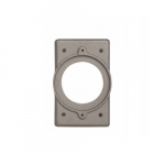 Receptacle Cover for Power Lock Aluminum Plates