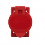 Weatherproof Cover for 30A Locking Device in FS/FD Box, Red