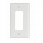 1-Gang Mid-Size Decorator Wallplate, White