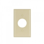 Standard Size Single Receptacle Thermoset Wallplate, Ivory