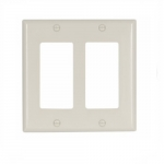 2-Gang Thermoset Decorator Wallplate, Light Almond