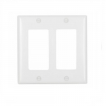 2-Gang Thermoset Decorator Wallplate, White