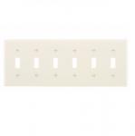 6-Gang Thermoset Toggle Switch Wallplate, Almond