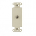 Decorator Mounting Strap w/ Type F Coaxial Adapter, Almond
