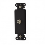 Decorator Mounting Strap w/ Type F Coaxial Adapter, Black