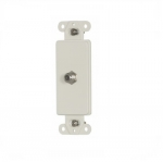 Decorator Mounting Strap w/ Type F Coaxial Adapter, Light Almond