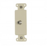 Decorator Mounting Strap w/ Type F Coaxial Adapter, Ivory