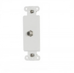 Decorator Mounting Strap w/ Type F Coaxial Adapter, White