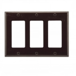 3-Gang Thermoset Decorator Wallplate, Brown