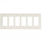 6-Gang Thermoset Decorator Wallplate, Light Almond