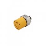 20 Amp Locking Connector, NEMA L5-20, 125V, Yellow