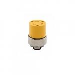 20 Amp Locking Connector, NEMA L6-20, 250V, Yellow