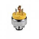20 Amp Locking Plug, NEMA L5-20, 125V, Yellow