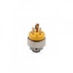 20 Amp Locking Plug, NEMA L6-20, 250V, Yellow