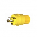 15 Amp Locking Plug, Watertight, Yellow