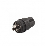 15 Amp Locking Plug, Watertight, Black