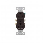 15 Amp Duplex Receptacle, Auto-Grounding, 2-Pole, 3-Wire, #14-10 AWG, 125V, Brown