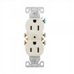 15 Amp NEMA 5-15R 125V Duplex Receptacle Outlet, Almond