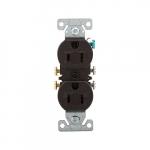15 Amp NEMA 5-15R 125V Duplex Receptacle Outlet, Brown