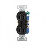 15 Amp NEMA 5-15R 125V Duplex Receptacle Outlet, Black