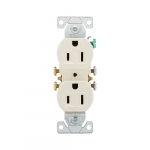 15 Amp NEMA 5-15R 125V Duplex Receptacle Outlet, Light Almond