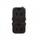 15 Amp NEMA 5-15R 125V Duplex Receptacle Outlet, Push Wire Only, No Strap