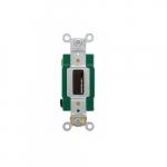 30 Amp Locking Switch, Single-Pole, 120V-277V, Brown