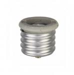 Socket Adapter, Keyless, Medium Base, Ivory