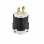 30 Amp Locking Plug, 4-Pole, 4-Wire, 120V-208V, Black