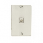 4-Conductor Phone Wall Jack, RJ14, Light Almond