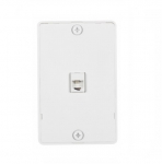 4-Conductor Phone Wall Jack, RJ14, White