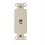 4-Conductor Phone Jack Insert, Almond