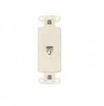 4-Conductor Phone Jack Insert, Light Almond