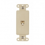 4-Conductor Phone Jack Insert, RJ14, Ivory