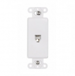 4-Conductor Phone Jack Insert, White