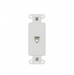6-Conductor Decorative Phone Jack, White