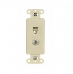 4-Conductor Coax & Phone Jack Adapter Insert, Ivory