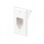 1-Gang Thermoplastic Multimedia Wall Plate, White
